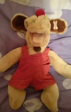 #Vintage 1980s #wrinkles #puppet soft toy dog,  View more on the LINK: http://www.zeppy.io/product/gb/2/301897021556/