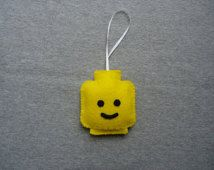 Lego Head Ornament - Free Shipping (US Domestic)