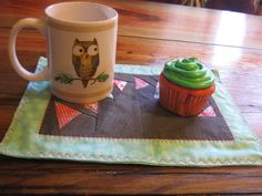 RachaelsCrazyScraps FREE SHIPPING USA Looking for a gift or looking for something new and colorful will look no more this little mug rug/ snack mat will be perfect, it measure