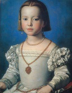 Agnolo Bronzino-Ritratto di Bia de' Medici-  XV secolo-Galleria degli Uffizi-Firenze
