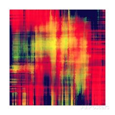 Art Abstract Geometric Pattern, Background In Bright Red , Gold And Green Colors Affiches par Irina QQQ sur AllPosters.fr