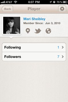 mobile - nice profile UI
