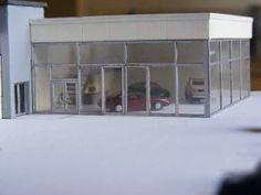 N Scale car dealership