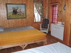 Anita's chalet from Gazebo inside - Chalet on Paskagama's river - for unique a fly-in fishing experience in Northern Quebec - You'll enjoy our outfitter! | #flyin #fishing #walleye #northernpike