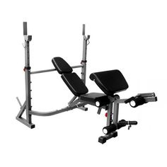 Bayou Fitness E-Series Olympic Weight Bench with Leg Extension and Preacher Curl Attachment