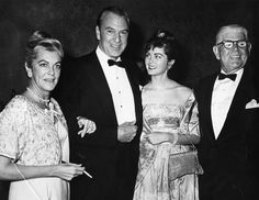 Gary Cooper with wife, daughter and Mrs. Cooper's father. Circa 1960