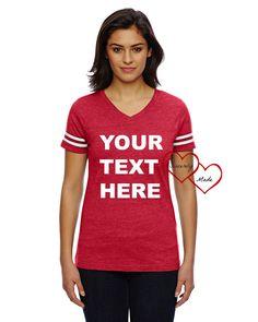 Women's Football Tee - Ladies Football Tee - Football Shirts  - Custom jersey shirts for women - custom clothing - Football Tees - cute tee by CuteShirts on Etsy