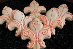 Mardi Gras Cookies Fleur De Lis New Orleans by 4theloveofcookies