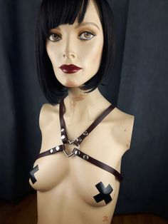 Items similar to Harness Leather / Body Harness / Heart Harness Oxblood on Etsy Leather Harness, Handmade Items, Handmade Gifts, Leather Accessories, Vegan Leather, Halloween Face Makeup, Trending Outfits, Heart, Unique Jewelry