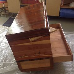 This is my first post on Hometalk....so I'm sure it won't be perfect but here goes....I found this beauty at a yard sale.  It is a Cavalier cedar chest from (I'…