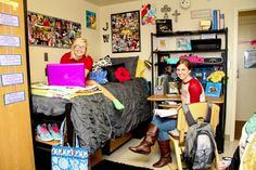 Residents on walker 3 showing off their super suite for prospective students dorm bed - Coed bedroom ideas ...