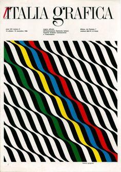 Franco Grignani, cover for «Italia Grafica», No. 9, Milano, 1966