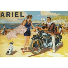 Ariel Motorcycles Postcard Preview