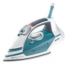 Shop for Breville Power Steam Advanced Iron, Litre, 2400 Watt, Blue. Starting from Choose from the 2 best options & compare live & historic kitchen prices. Best Iron, How To Iron Clothes, Clean Face, Inventions, Home Appliances, Bulb, Irons, Furniture Decor, Outdoor Furniture