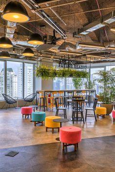 Open Office Wunderman - Part 1 - Escritório - Office - Design Corporate Office Design, Open Office Design, Industrial Office Design, Office Interior Design, Office Interiors, Workplace Design, Open Space Office, Bureau Open Space, Creative Office Space