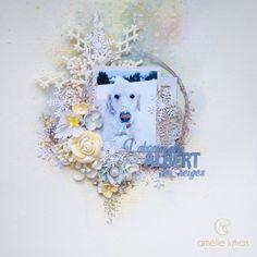 Le Monde d'Amélie Layouts, Mixed Media, Challenge, Scrapbooking, Pets, Animals, Inspiration, Color, Snow