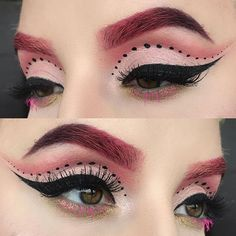 Close up of today's look  wearing the @maccosmetics #nutcrackersweet eyeshadows for the cut crease and my brows  with eyeliner in #powersurge under the eyes and #fuischaflicker for my bottom lashes  this was a cute af look heyyyyyyy ✨