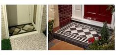 Image result for victorian porch doorway wall tiles