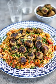 Incredibly tasty Vegan Aubergine 'Meatballs' with Spaghetti | Supergolden Bakes