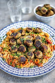 Vegan Aubergine 'Meatballs'