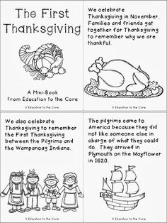 Thanksgiving Literacy Activity and a FREEBIE Mini-Book!