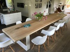 Best Indoor Garden Ideas for 2020 - Modern White Dinning Table, Dinning Room Tables, White Wood Table, Kitchen Chairs, Kitchen Decor, Dressing Table With Chair, Small Dining, Kitchen Living, Interior Design Living Room