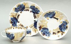 Golden Garden Tea Set 3pcs | Lomonosov Russia - Factory Direct from Russia