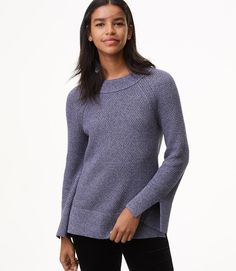 Primary Image of Textured Slit Cuff Sweater