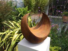 Garden sculpture, Abstract sculpture, iron rust sculpture, Garden art, Limited edition