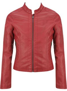Kids Leather Jackets - Girls Kids Basic Leather Motorcycle Jacket