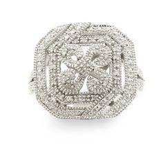 1/10 ctw. Fine Diamond Filigree Ring