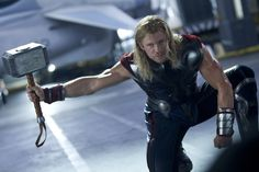 Thor - movie costume - sleeveless version with space-looking gauntlets