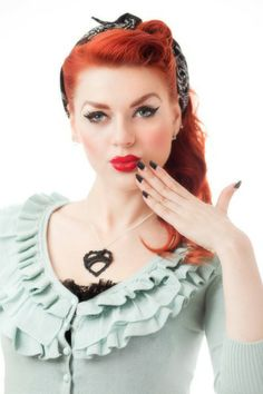 Rockabilly Hairstyle red pink colors Rockabilly image3