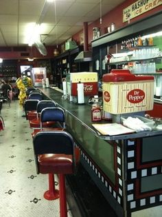 Corsicana Texas has the oldest continually operated soda fountain in Texas, it's Caleb's Diner and you can get fountain Dr. Pepper!