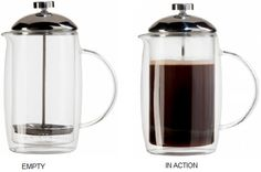 Oggi 6-Cup Double Wall Glass French Press Coffee Maker—27oz