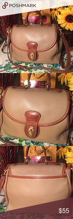 🎈🎉SALE🎉🎈Coach Bag Authentic Leather Coach Bag- Sz 9x13- 23' adjustable strap- Taupe/brown- Genuine pebble leather- Can be worn as a Crossbody- Very nice bag. Coach Bags Shoulder Bags