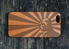 Darth Vader Starwars Wooden iPhone 5 5s iPhone 6 case walnut bamaboo wood iphone case S019 by StudioT7 on Etsy