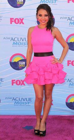 Image via We Heart It https://weheartit.com/entry/142956447 #beautiful #beauty #black #fashion #frill #glamour #gorgeous #hollywood #mona #pink #redcarpet #ruffles #style #teenchoiceawards #prettylittleliars #bratz #janelparrish #tca #belted #dwts #pll #monavanderwaal
