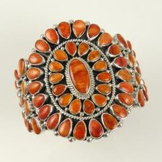 Spiny Oyster Shell Cluster Bracelet by Dee Nez - Garland's Indian Jewelry