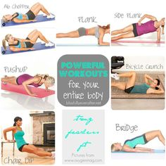 Ashy Bines - Powerful workouts for your entire body: Here's an All Over Body teaser to get your week started ladies! Do each exercise for 1 minute if you can, have a short rest and then move onto the next.