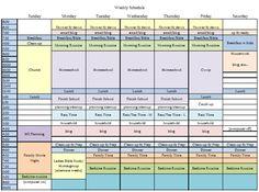 Homeschool Schedule ... block schedule
