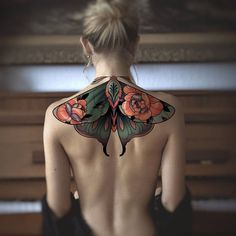 Sweet Tattoos, Pretty Tattoos, Beautiful Tattoos, Body Art Tattoos, New Tattoos, Tatoos, Piercings, Upper Back Tattoos, Back Piece Tattoo