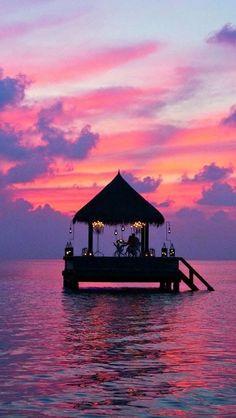 Sunset at Taj Exotica Resort & Spa, Maldives