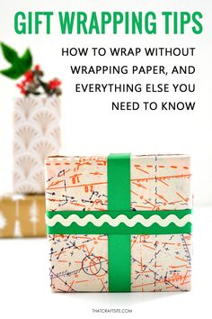 Pin for later! The ultimate list of 60+ gift wrapping tips and creative ideas. Get all the tips about the best wrapping paper to use, how to wrap large or odd shape gifts, how to gift wrap without wrapping paper, tape, or ribbon. Gift wrapping made easy! thatcraftsite.com