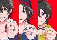 Ichiro Yamada, Jiro Yamada and Saburo Yamada Mc Lb, Manga Art, Anime Art, Hot Anime Guys, Anime Boys, Otaku, Cute Anime Pics, Rap Battle, Amazing Drawings