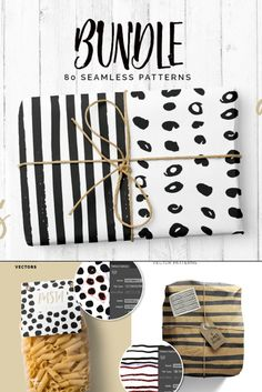 Two of my favourite pattern collections have joined forces today to form this lovely Dots & Lines Patterns Bundle!