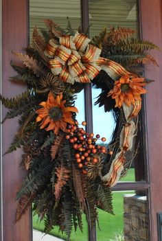 Fall Fern Wreath by AnotherSpecialOccasi on Etsy, $70.00