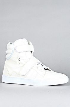 AH by Android Homme  The Propulsion Hi Sneaker in White  #hightops #sneakers #white