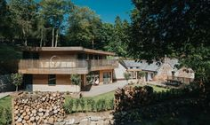 Tom and his wife Danielle bought an existing lodge located in the woodland at Trevano near Heslton, and designed a timber-clad extension that blends seamlessly into the surrounding landscape.