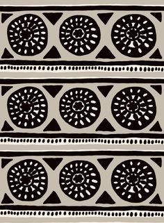 Kärrynpyörä by Jenni Tuominen for Marimekko. on Behance Design Textile, Textile Prints, Fabric Design, Motifs Textiles, Textile Patterns, Pretty Patterns, Color Patterns, Pattern Paper, Pattern Art